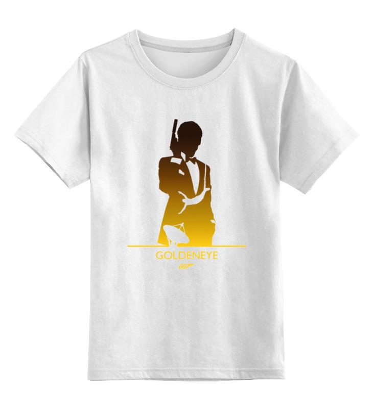 Детская футболка классическая унисекс Printio 007: золотой глаз лонгслив printio 007 золотой глаз