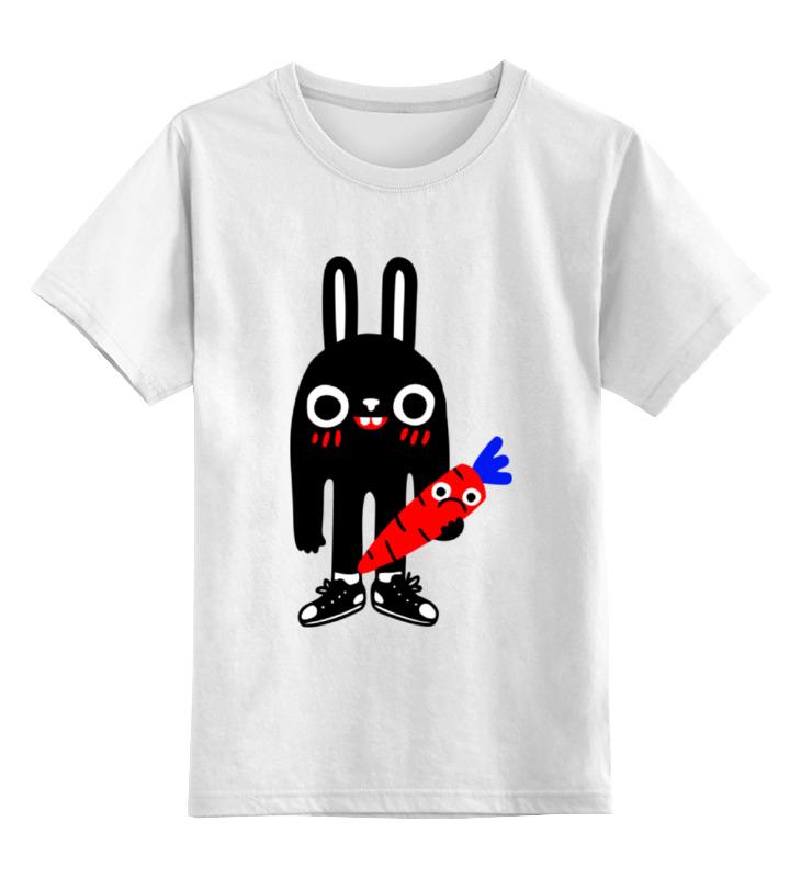 Детская футболка классическая унисекс Printio Заяц с морковкой слюнявчик printio кролик с морковкой