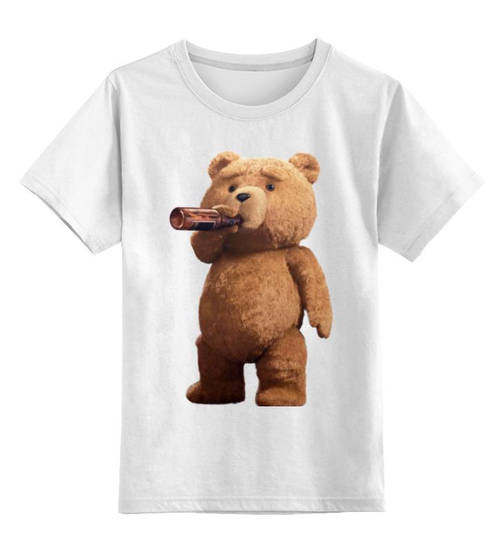 Детская футболка классическая унисекс Printio Мишка тэд