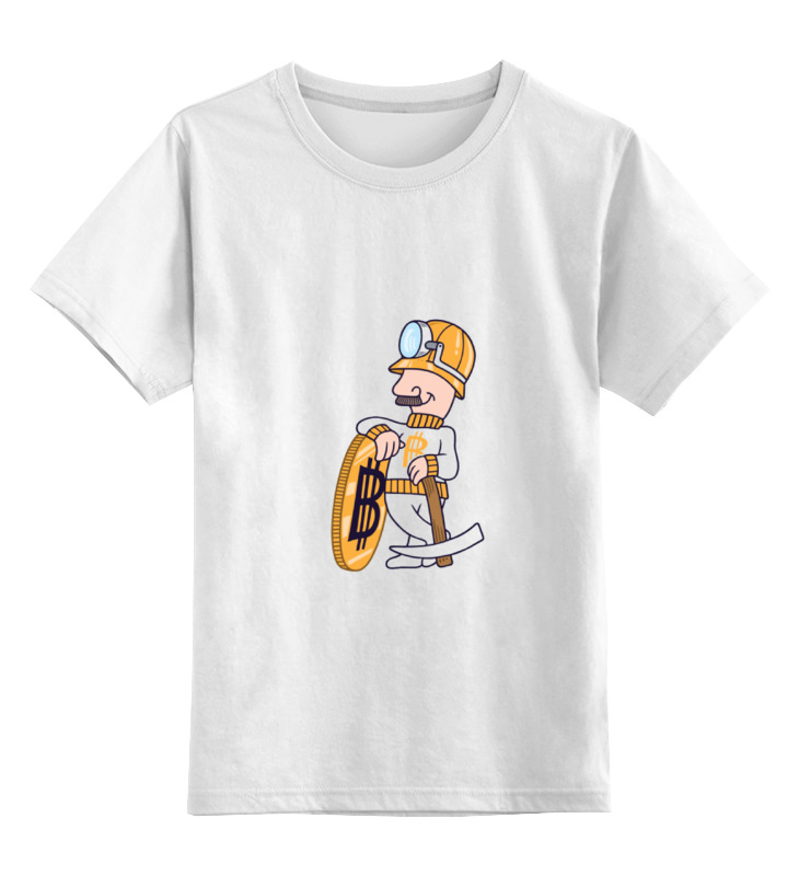 Детская футболка классическая унисекс Printio bitcoin miner