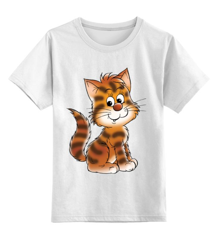 Детская футболка классическая унисекс Printio Котенок егерь последний билет в рай котенок