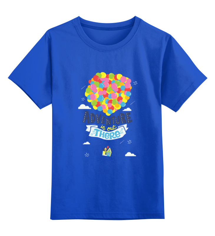 Детская футболка классическая унисекс Printio Приключение там (вверх) вверх