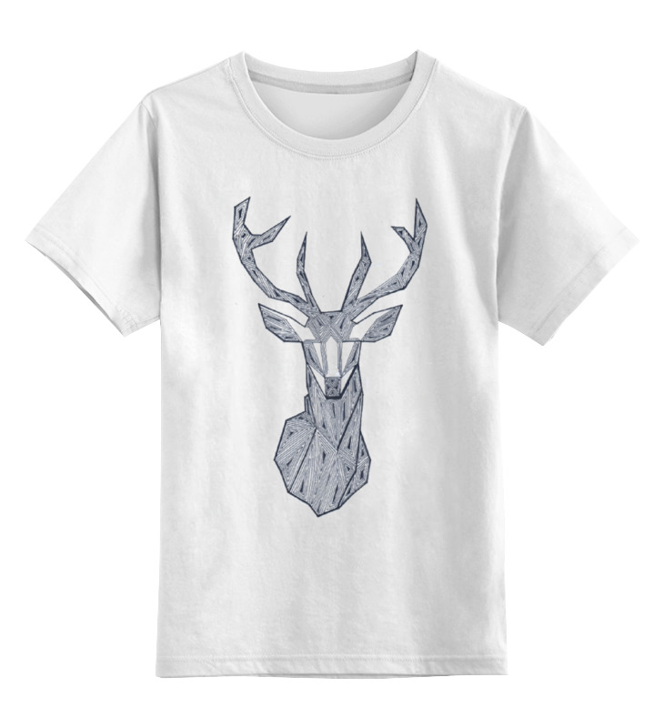 Детская футболка классическая унисекс Printio Олень зен от alsusha