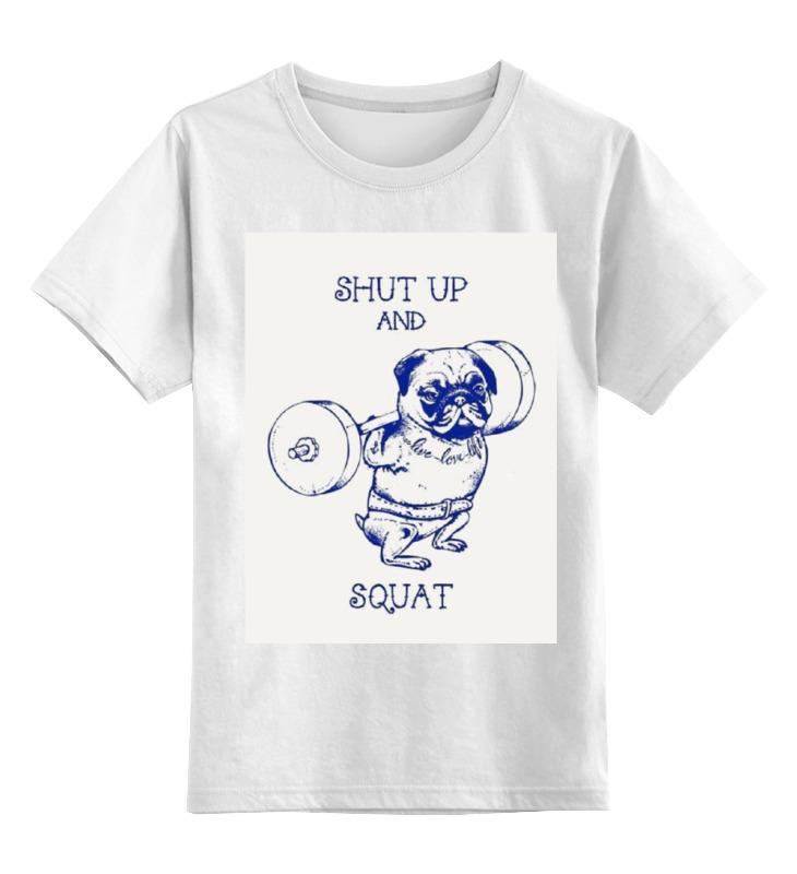 Детская футболка классическая унисекс Printio Спортивный мопс футболка классическая printio спортивный авто