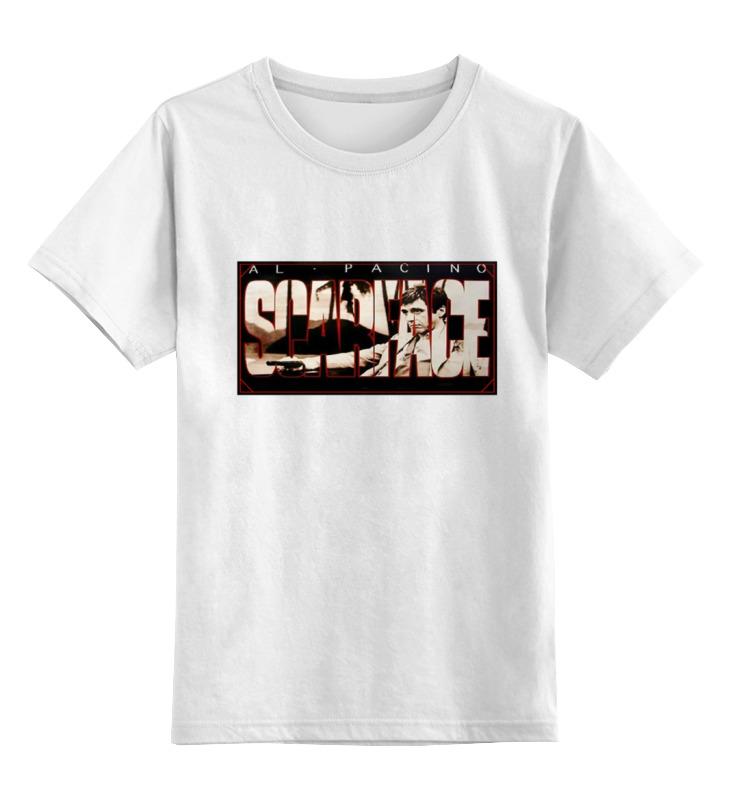 Детская футболка классическая унисекс Printio Лицо со шрамом футболка timberland футболка