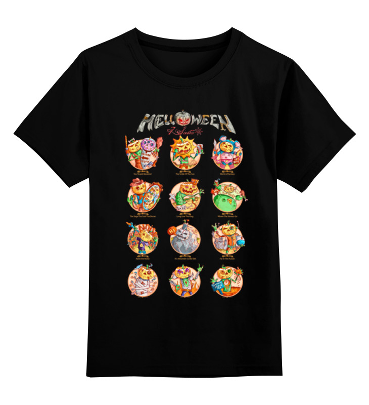 Детская футболка классическая унисекс Printio Helloween ( rock band ) детская футболка классическая унисекс printio rock