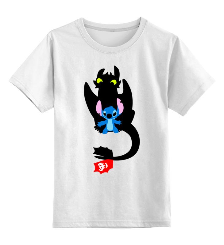 Детская футболка классическая унисекс Printio Стич и ночная фурия цена