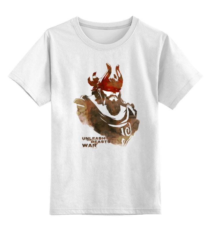 Детская футболка классическая унисекс Printio Dota 2 beastmaster (with text) футболка wearcraft premium slim fit printio dota 2 beastmaster with text