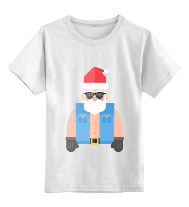 Фото - Детская футболка классическая унисекс Printio Дед мороз-байкер детская футболка классическая унисекс printio дед мороз с подарками