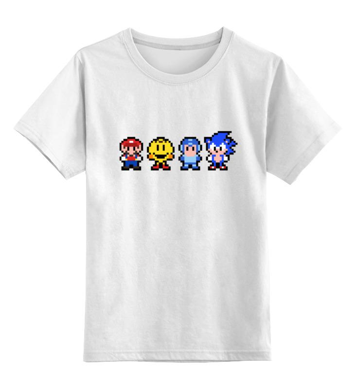 Детская футболка классическая унисекс Printio Герои (8-bit) детская футболка классическая унисекс printio герои в масках