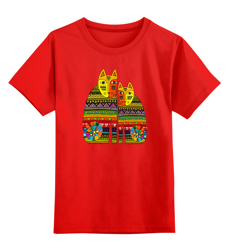Детская футболка классическая унисекс Printio Коты