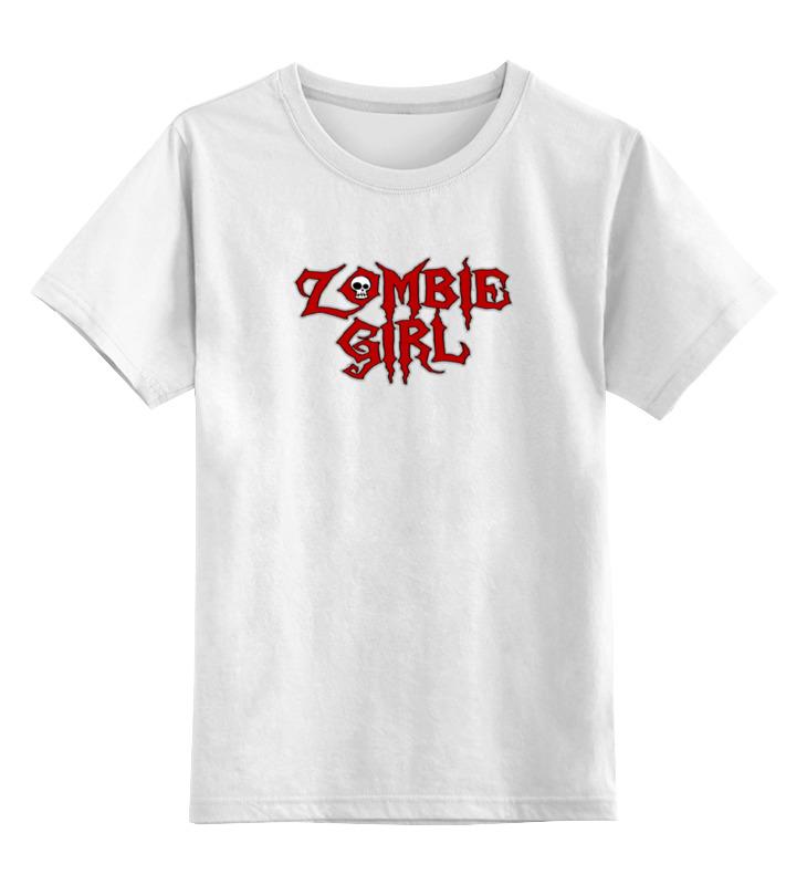 Детская футболка классическая унисекс Printio Девушка зомби детская футболка классическая унисекс printio зомби хипстеры