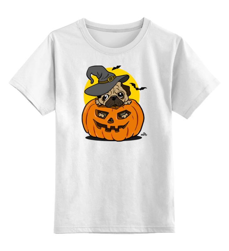 Детская футболка классическая унисекс Printio Мопс на хэллоуин цена и фото