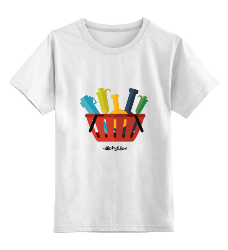 Детская футболка классическая унисекс Printio Корзинка лаборанта сумка printio корзинка лаборанта