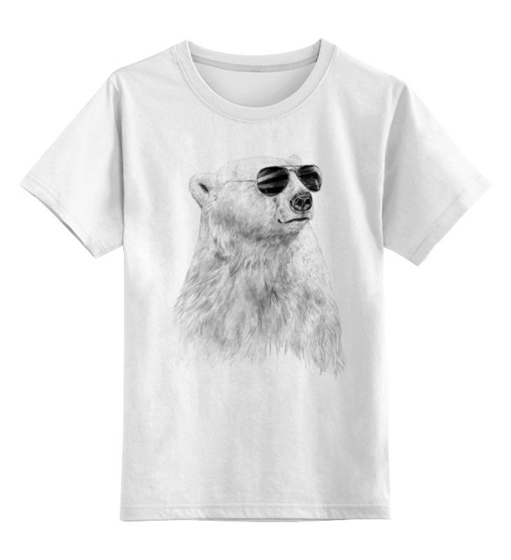 Детская футболка классическая унисекс Printio Белый медведь