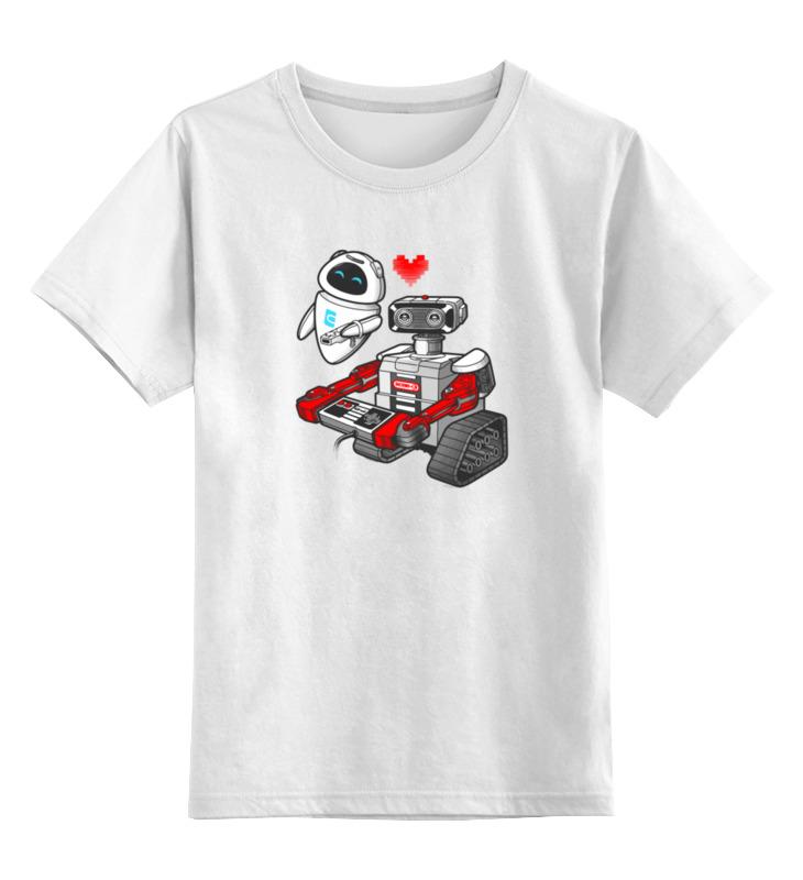 Детская футболка классическая унисекс Printio Валл-и купить