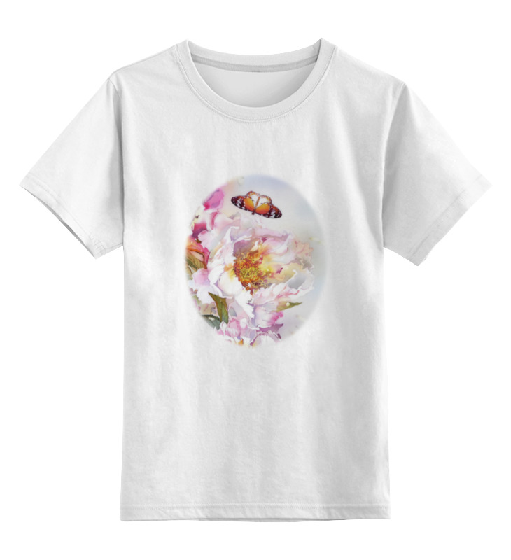 Детская футболка классическая унисекс Printio Пионы и бабочки 2 блокнот printio пионы и бабочки 2