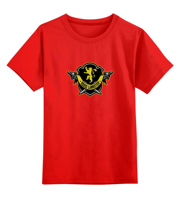 Детская футболка классическая унисекс Printio House lannister