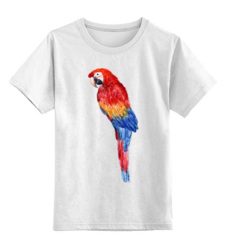 Детская футболка классическая унисекс Printio Попугай ара