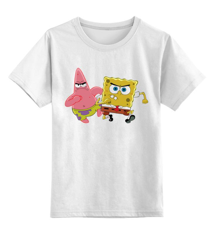 Детская футболка классическая унисекс Printio Спанч боб детская футболка классическая унисекс printio боб марлей