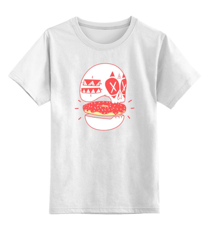 Детская футболка классическая унисекс Printio Череп пончик