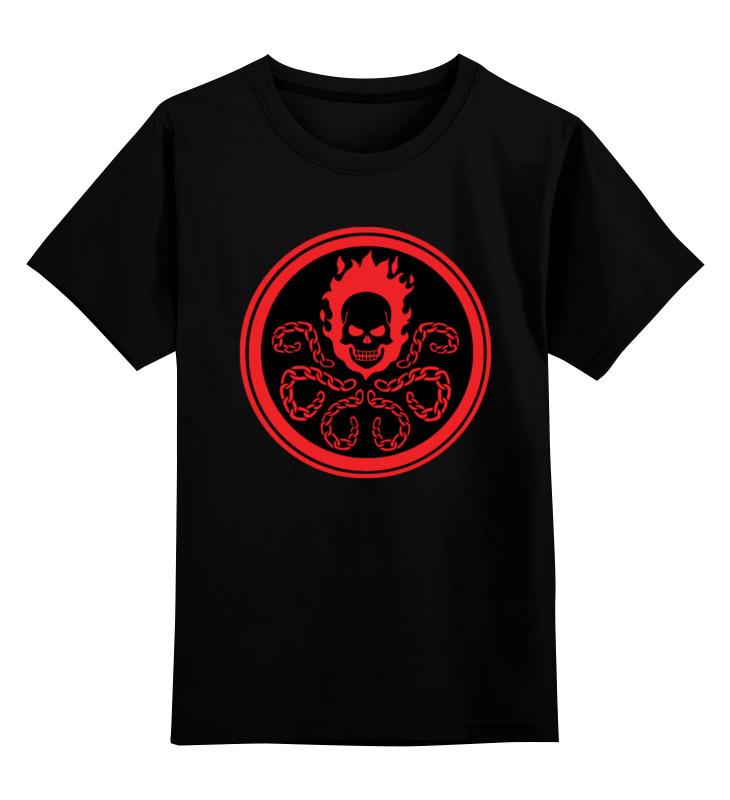 Детская футболка классическая унисекс Printio Призрачный гонщик (гидра) цена