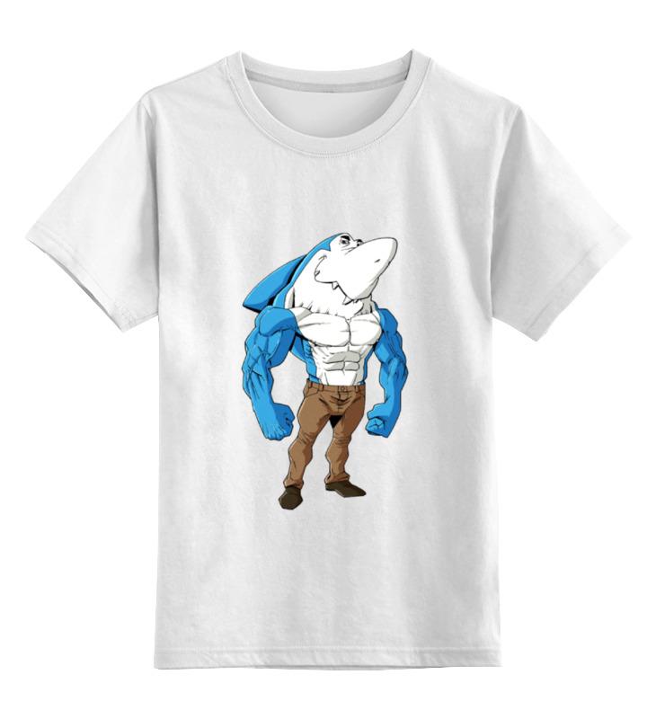 Детская футболка классическая унисекс Printio Зубастая рыбка стоимость