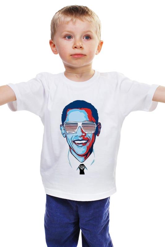 Детская футболка классическая унисекс Printio Барак обама