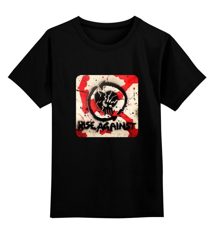 Детская футболка классическая унисекс Printio Rise against - logo