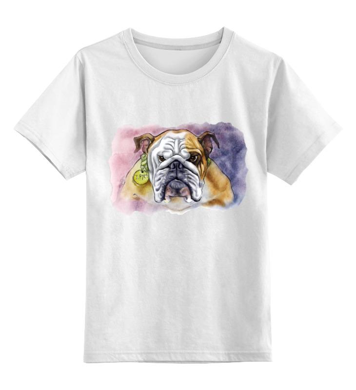Детская футболка классическая унисекс Printio Бульдог брайтон к аквар английский бульдог тв