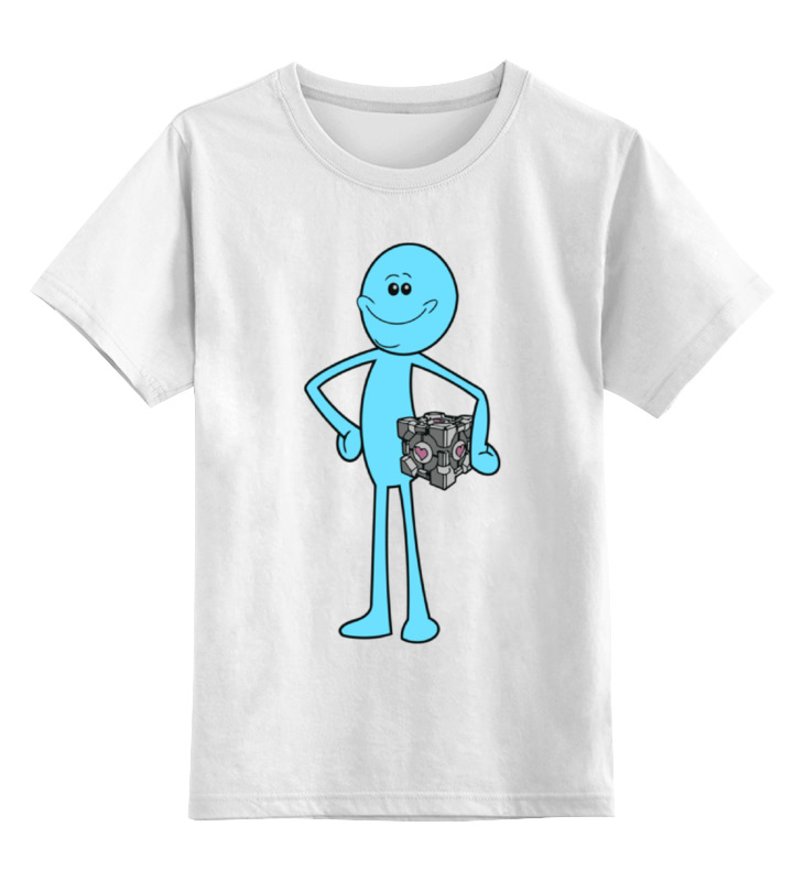 Детская футболка классическая унисекс Printio Mr. meeseeks (rick and morty) high q cartoon rick and morty 2017 new arrival backpack students couple printing candy color leisure bags
