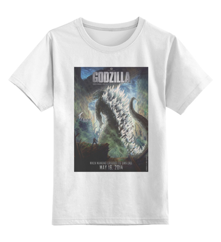 Детская футболка классическая унисекс Printio Godzilla / годзилла godzilla awakening