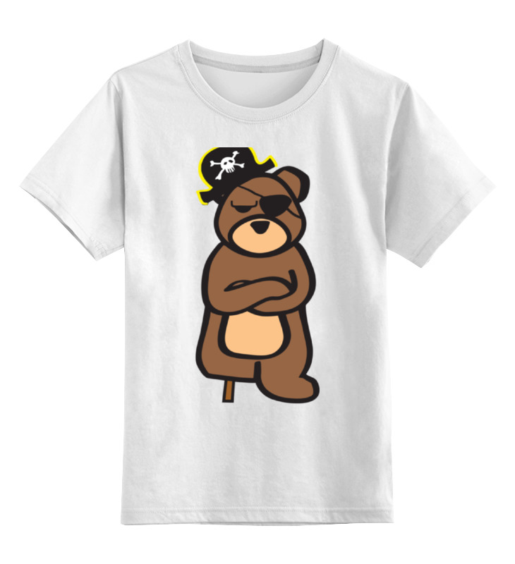 цена на Детская футболка классическая унисекс Printio Мишка пират