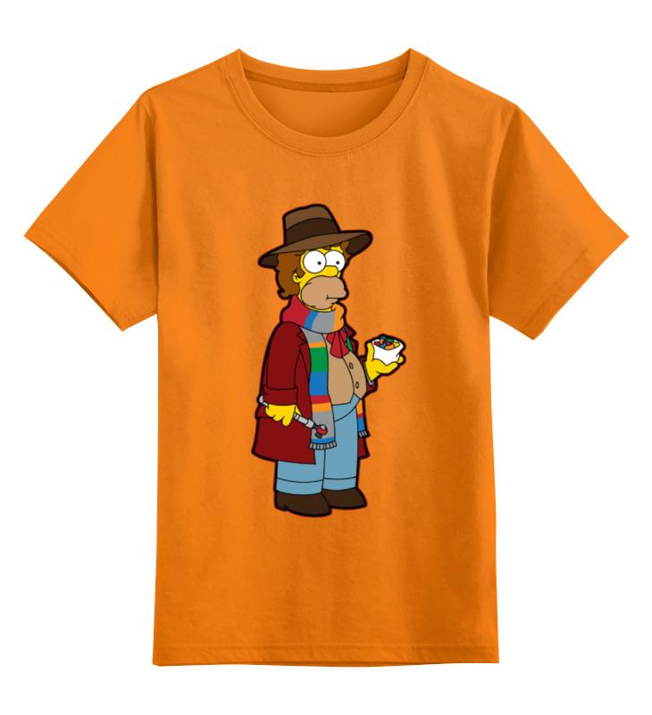 Детская футболка классическая унисекс Printio Гомер симпсон (доктор кто) цена и фото