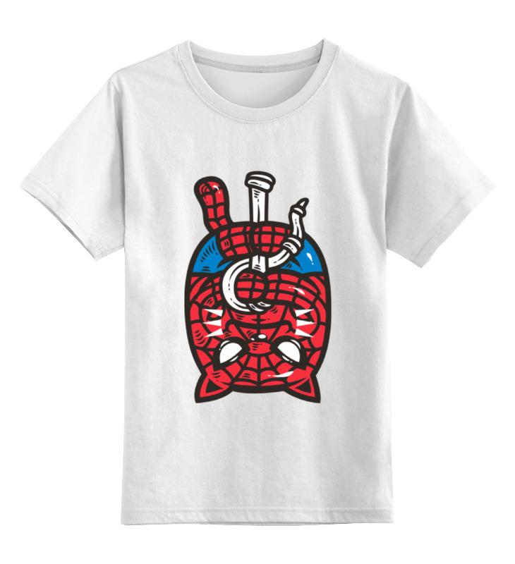 Детская футболка классическая унисекс Printio Кот-человек-паук футболка человек паук детская