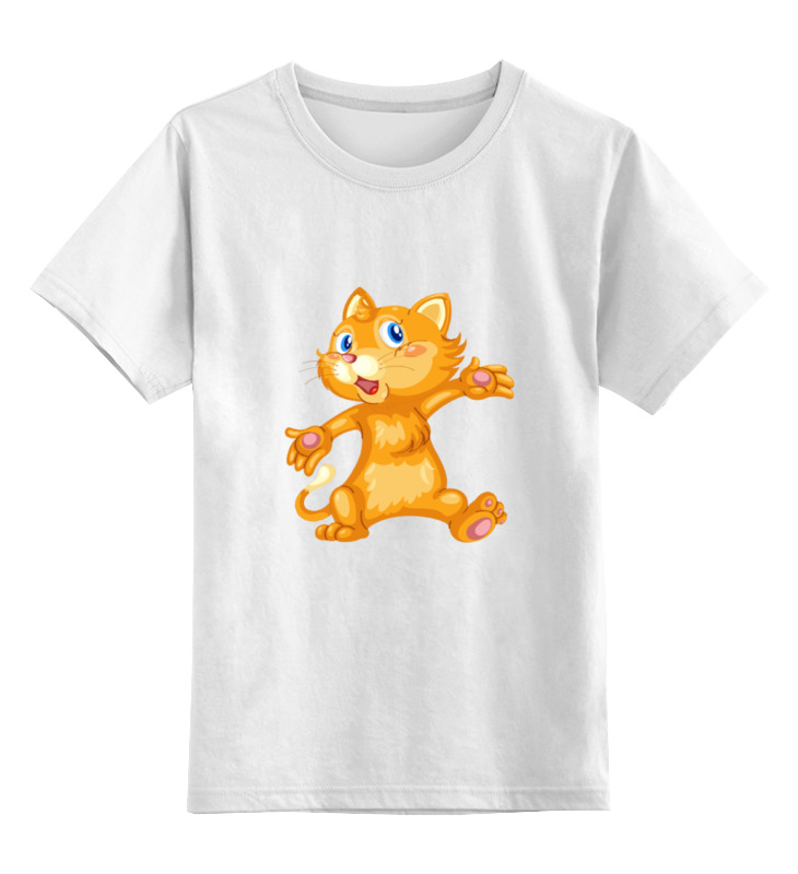 Детская футболка классическая унисекс Printio Рыжий кот футболка классическая printio рыжий кот