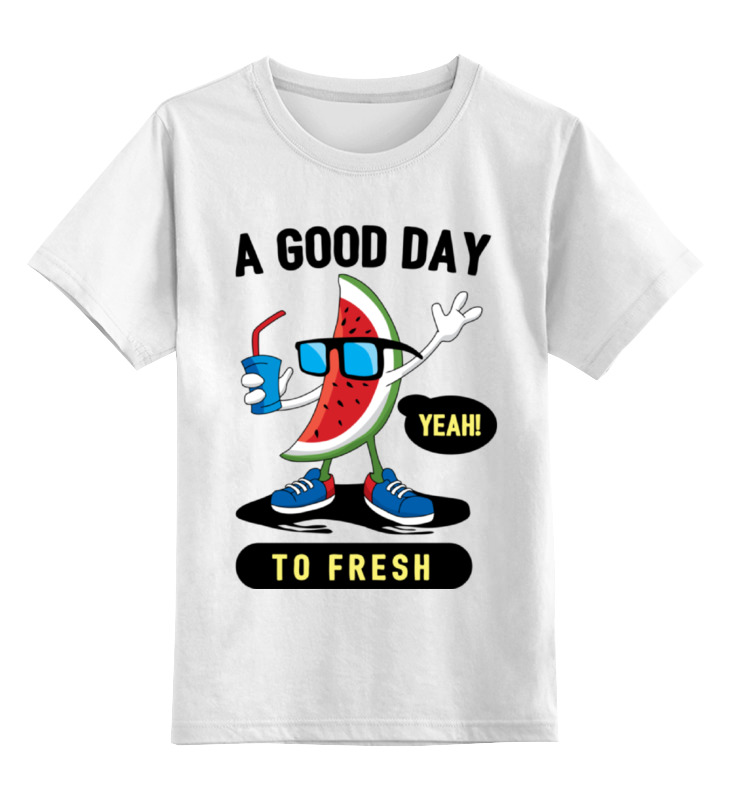 Детская футболка классическая унисекс Printio A good day to fresh