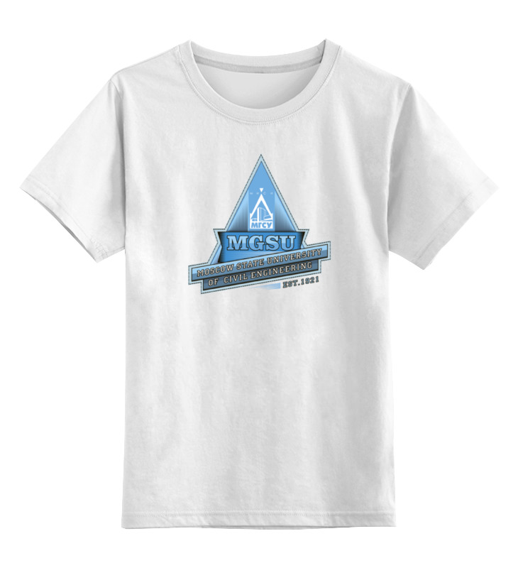 Детская футболка классическая унисекс Printio Футболка женская мгсу футболка женская пиар 50