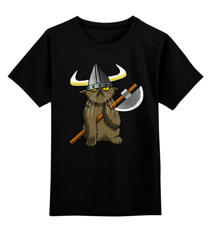 Детская футболка классическая унисекс Printio Кот викинг футболка классическая printio кот викинг
