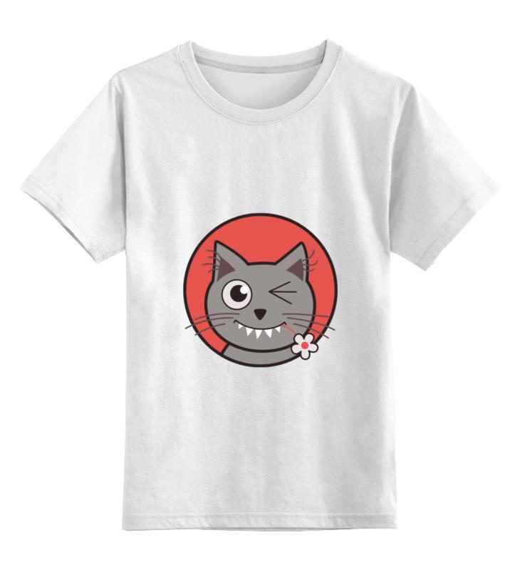 Детская футболка классическая унисекс Printio Забавный кот детская футболка классическая унисекс printio абстрактный кот