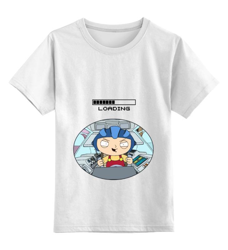 Детская футболка классическая унисекс Printio Baby loading детская футболка классическая унисекс printio tie пилот