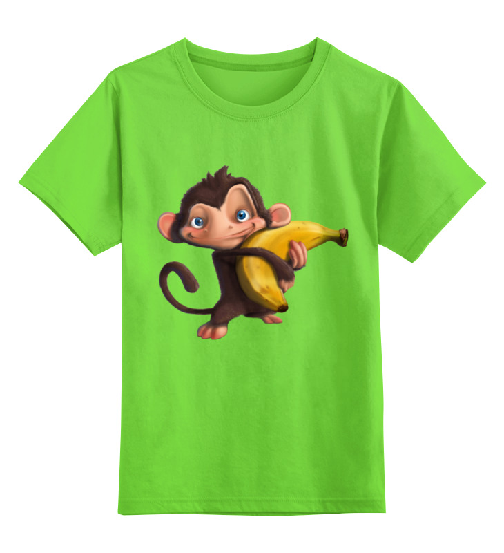 Детская футболка классическая унисекс Printio Обезьянка