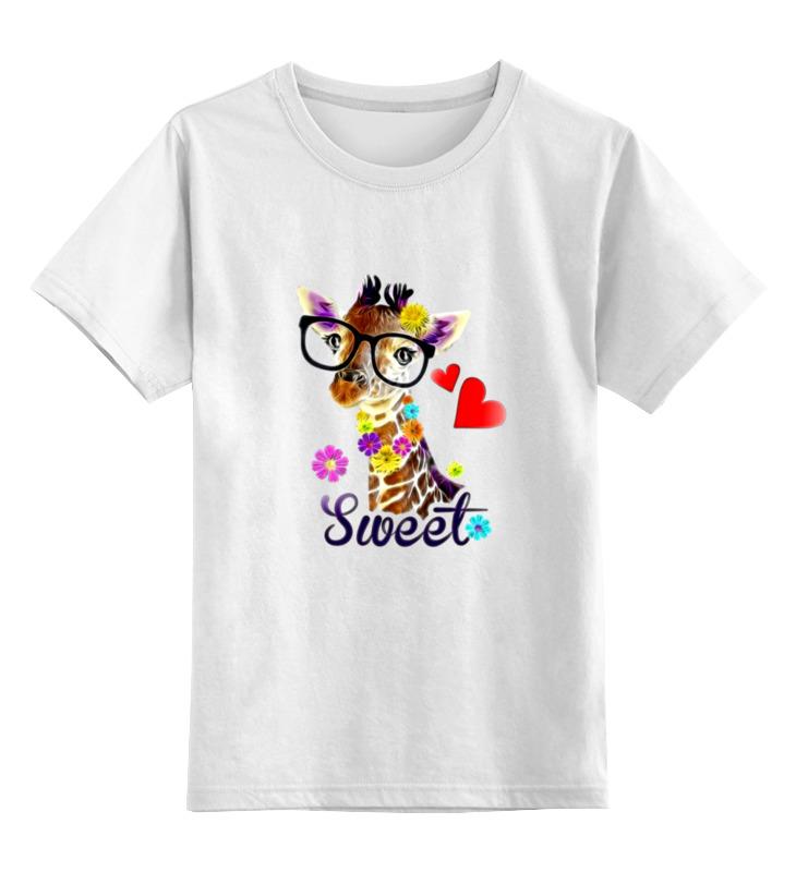 Детская футболка классическая унисекс Printio Жираф в очках детская футболка классическая унисекс printio жираф в очках
