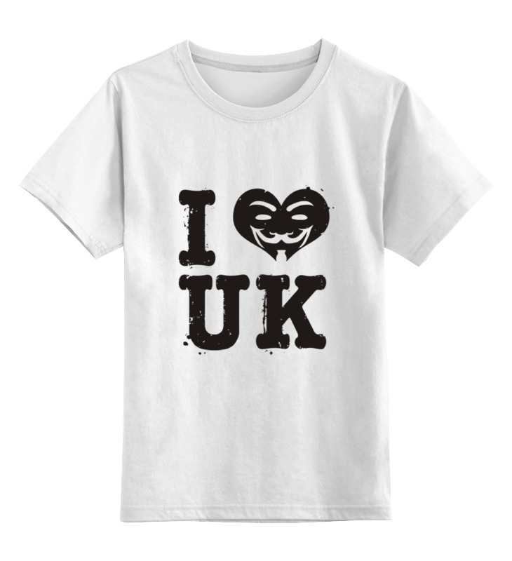 Детская футболка классическая унисекс Printio Uk love детская футболка классическая унисекс printio i love you beary much