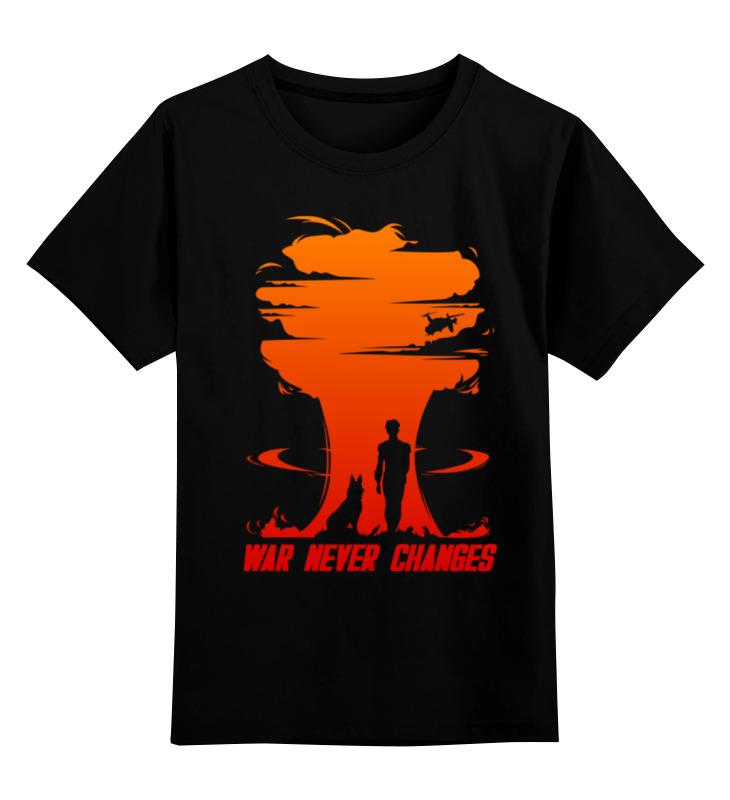 Детская футболка классическая унисекс Printio Fallout. war never changes свитшот унисекс с полной запечаткой printio fallout war never changes