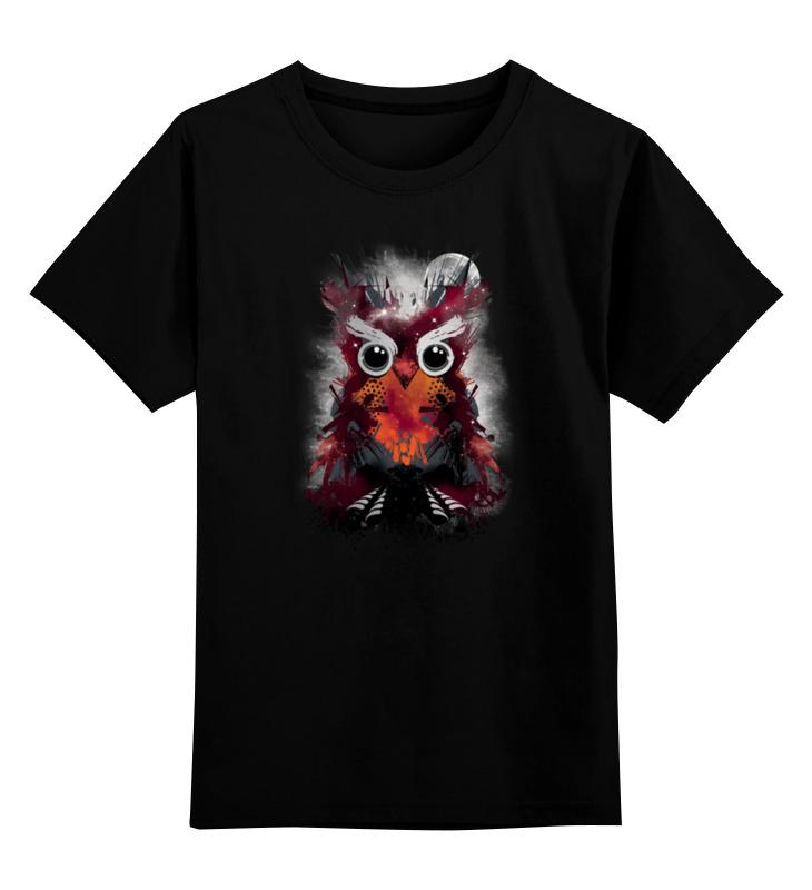 Детская футболка классическая унисекс Printio Абстрактная сова