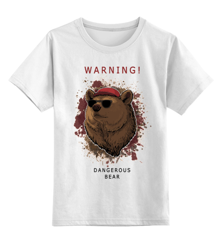 Детская футболка классическая унисекс Printio Мишка