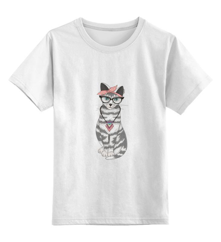 Детская футболка классическая унисекс Printio Мяу мау мау египетская мау котенка