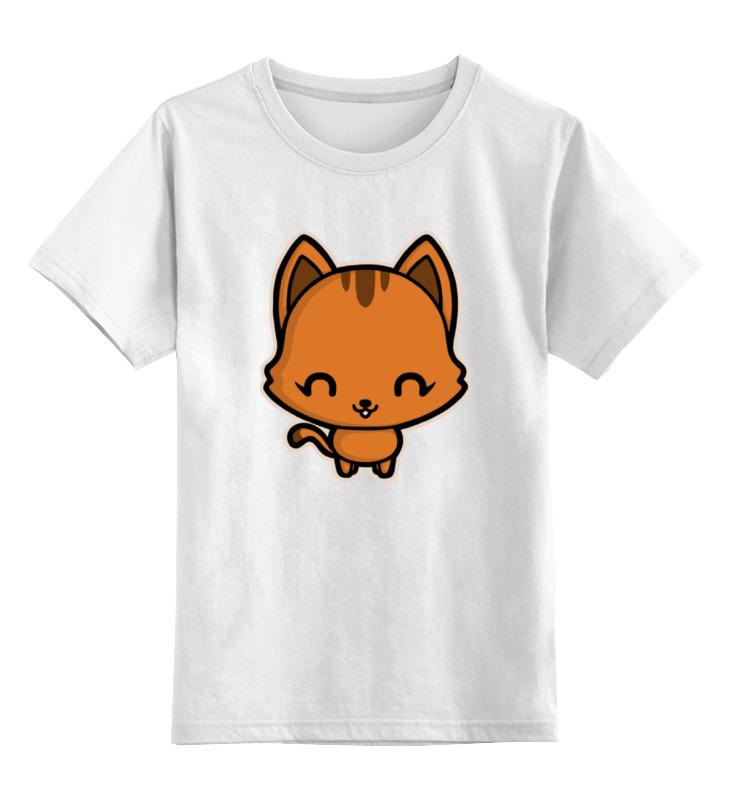 Детская футболка классическая унисекс Printio Милый котёнок погремушка котёнок