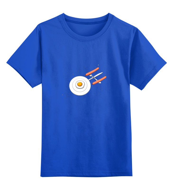 Детская футболка классическая унисекс Printio Летающий завтрак